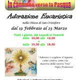 Adorazione Eucaristica nella chiesa di San Cristoforo