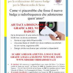 Concorso di idee per la realizzazione del nuovo badge per la Misericordia di Siena