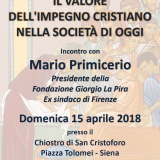 L'impegno cristiano sulle orme di Giorgio La Pira